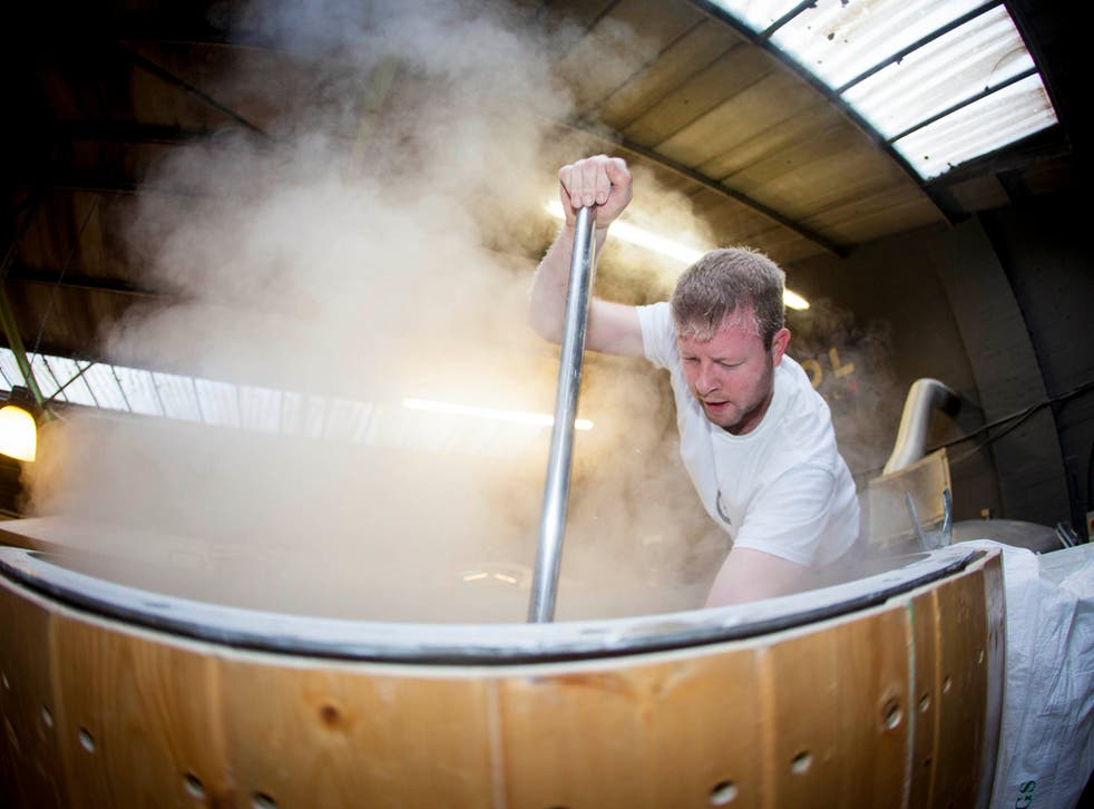 Stir it up: fermenting beer, or possibly the overthrow of capitalism