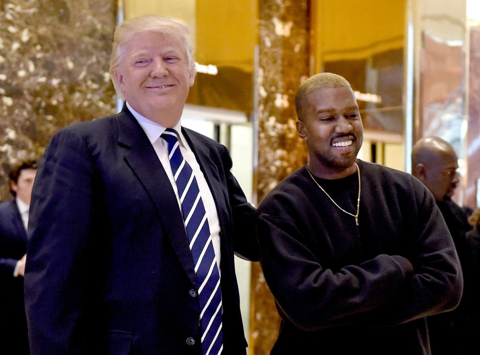 Singer Kanye West and President Donald Trump at Trump Tower, 13 December 2016, New York (TIMOTHY A. CLARY/AFP/Getty Images)