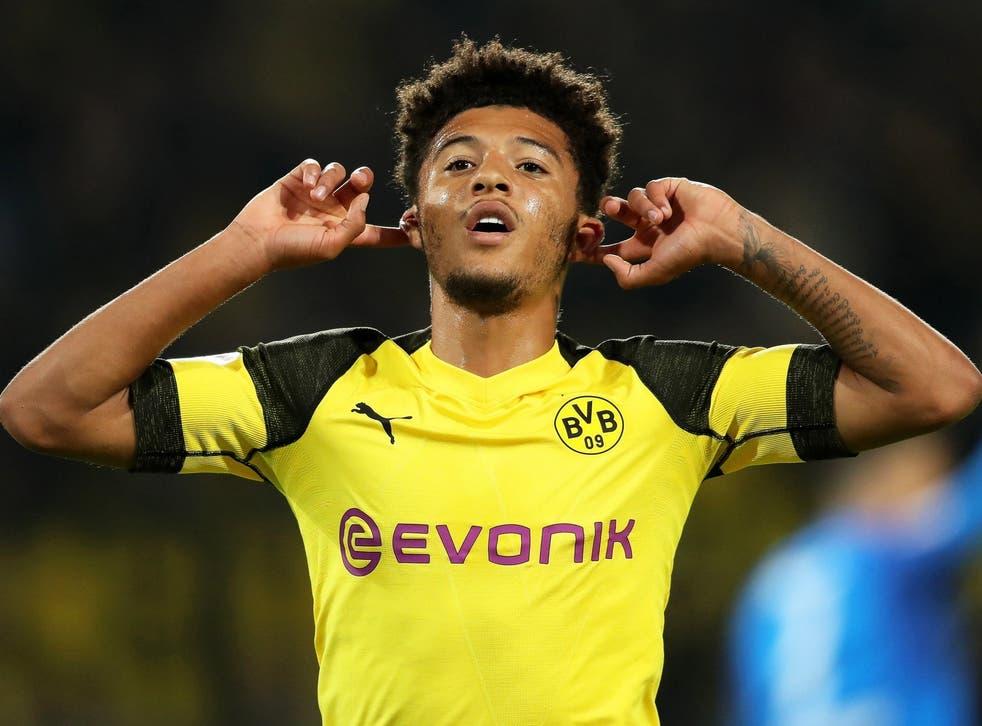 Jadon Sancho has impressed since joining Borussia Dortmund 14 months ago