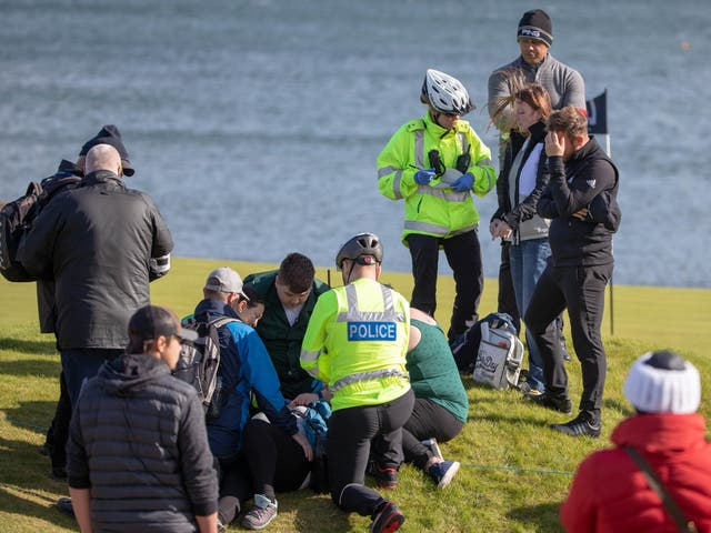 Tyrell Hatton struck a female fan during his opening round of the Alfred Dunhill Links Championship