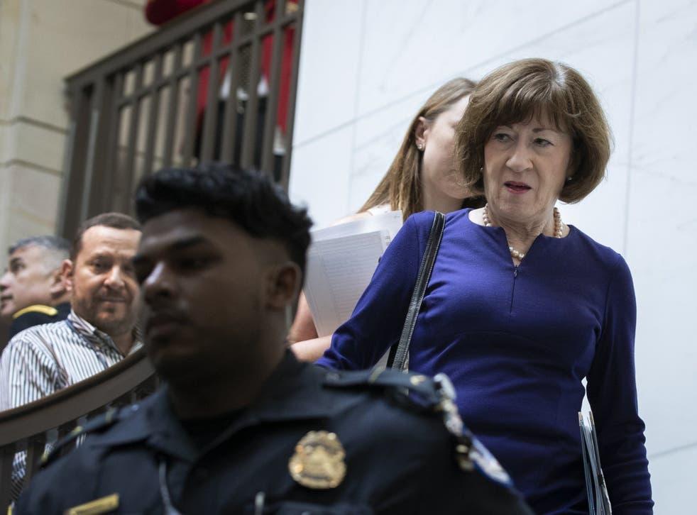 <p>Susan Collins on Capitol Hill</p>