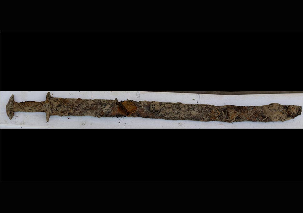 The sword was found in Vidostern lake