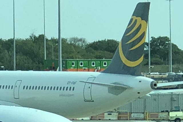 Stranded at Stansted: a Primera Air jet now impounded at the Essex airport
