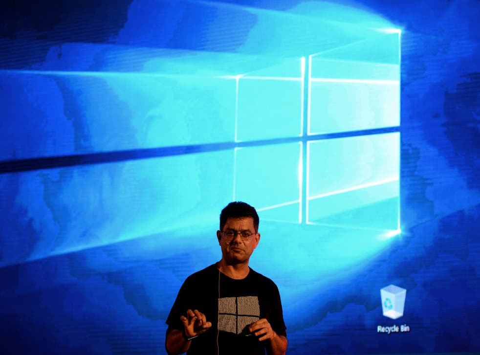 Microsoft's Vineet Durani speaks during the launch of Microsoft Windows 10 in New Delhi on July 29, 2015