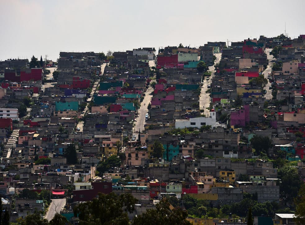 A slum in Ecatepec, which is notorious for its high murder rate