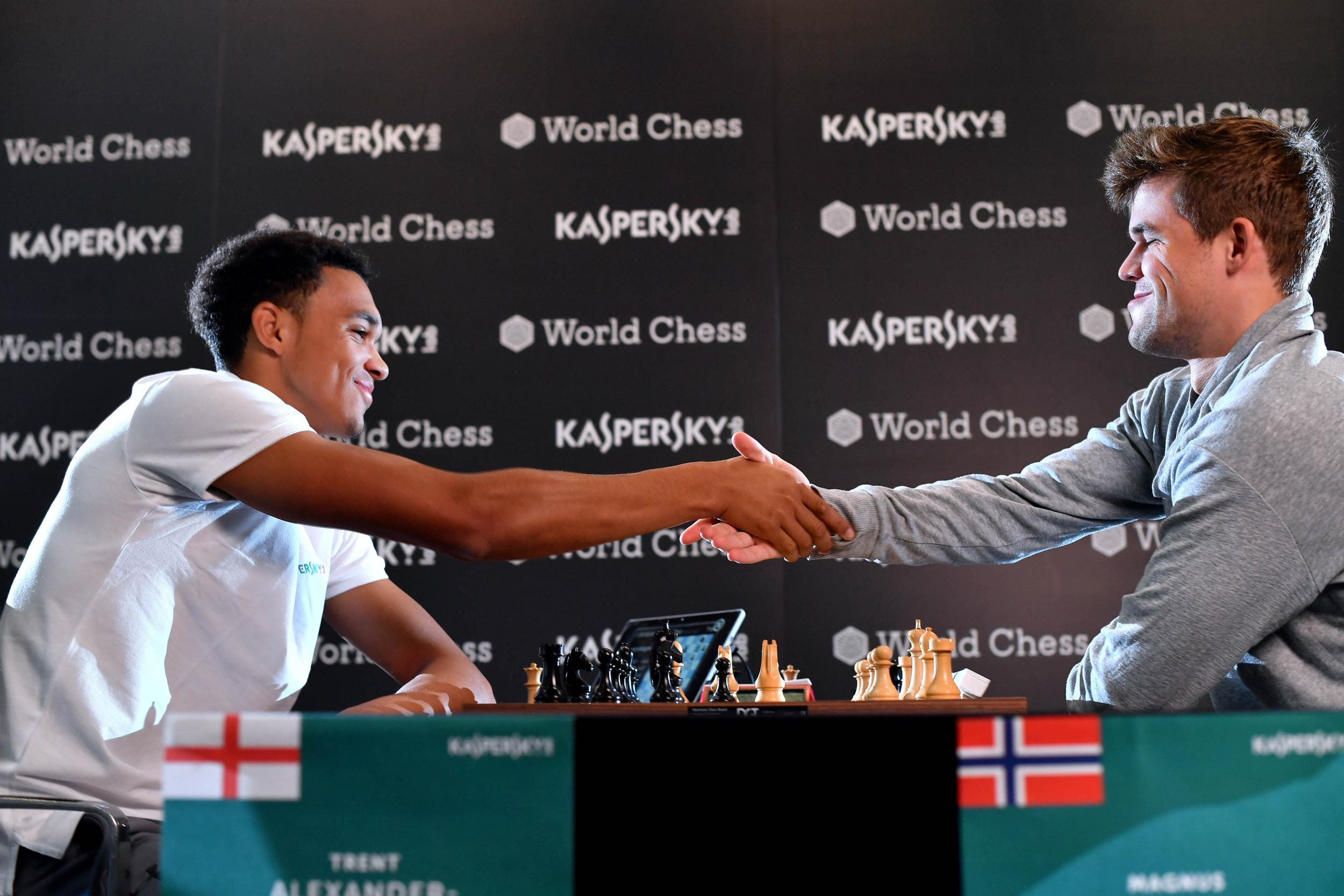 Trent Alexander-Arnold is outsmarted by the world chess