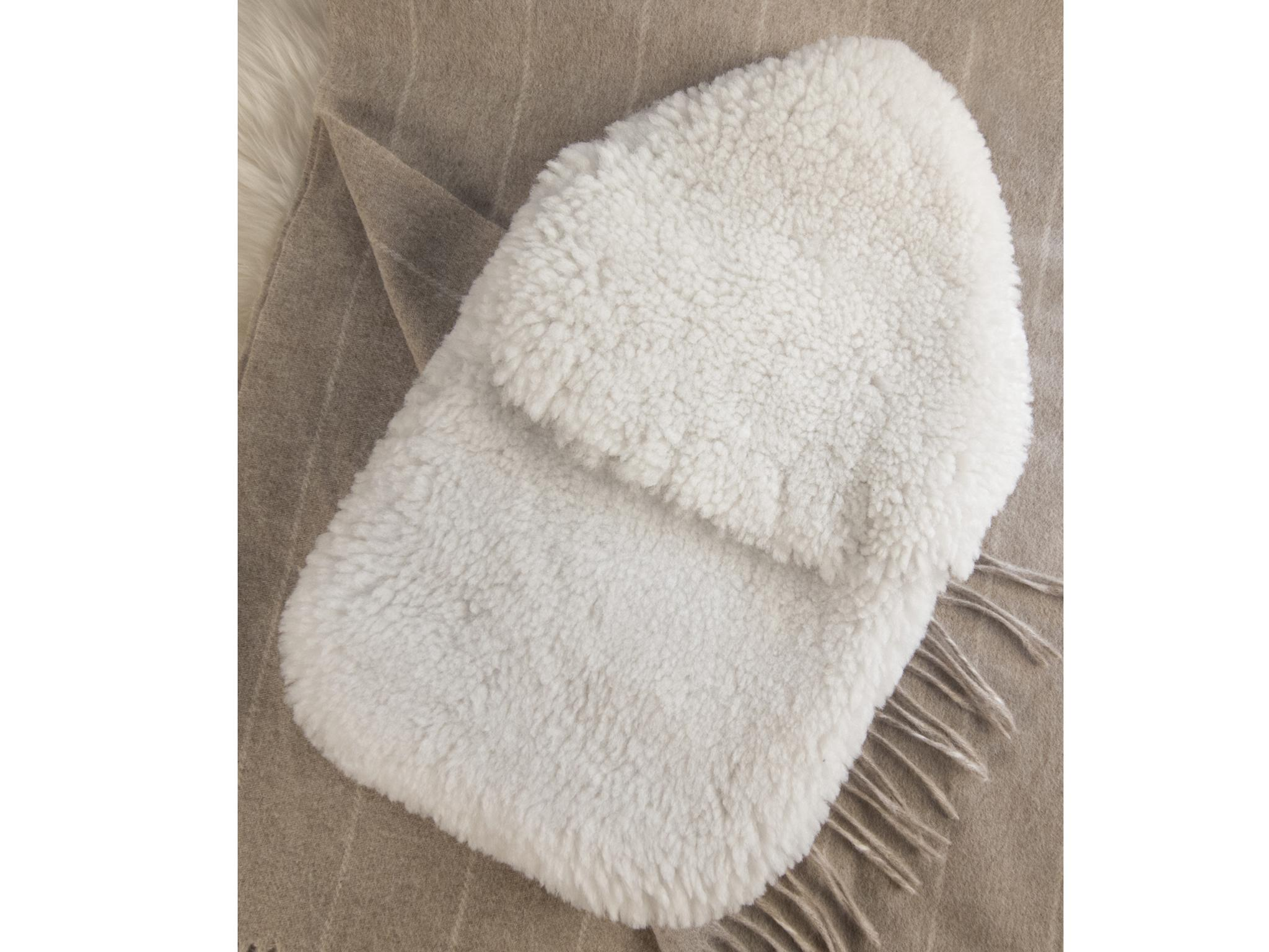 Grey 2 Litre Mture Hot Water Bottle With Natural Rubber and Soft Knitted Removable Cover