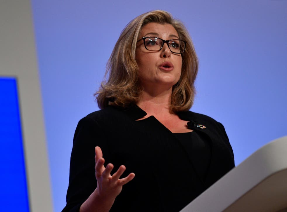 Britain's Secretary of State for International Development Penny Mourdant