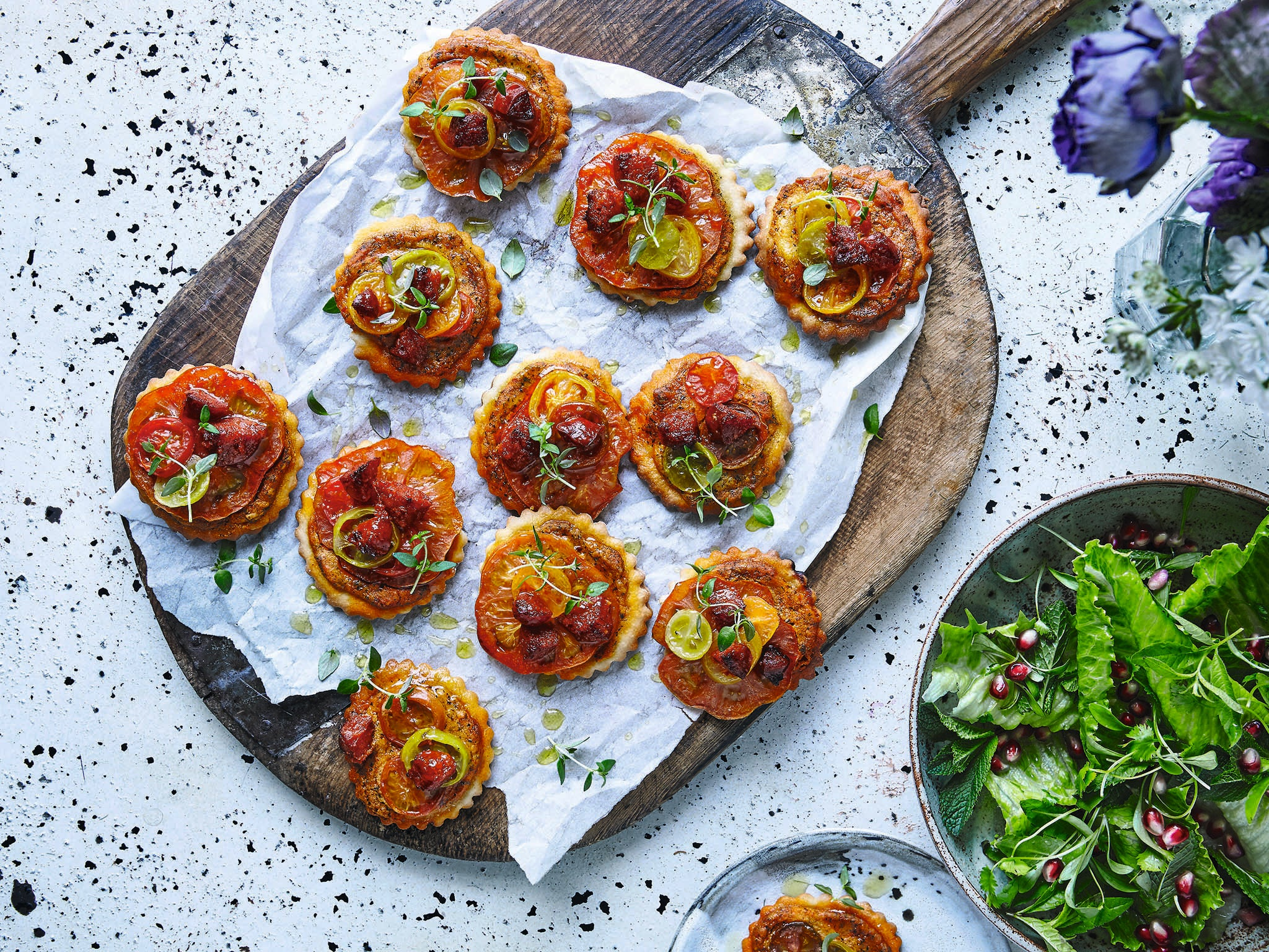 Jewelled Table recipes: from spiced kishk pizzettes to smoked cod tajen