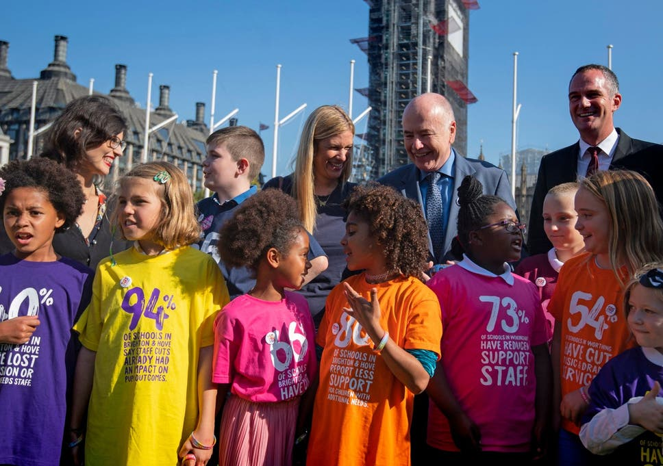 Children as young as five went to parliament to tell and sing their stories.