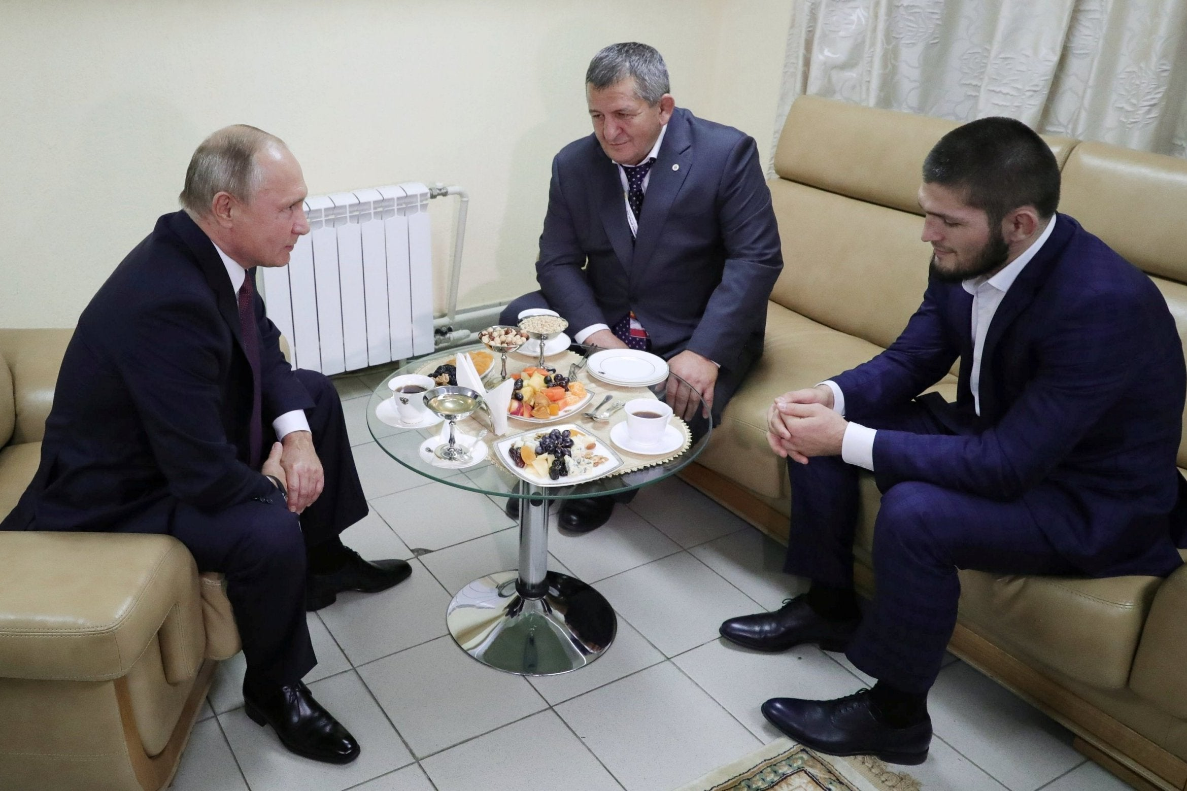 Vladimir Putin tells Khabib's father not to punish his son too severely after UFC 229 brawl