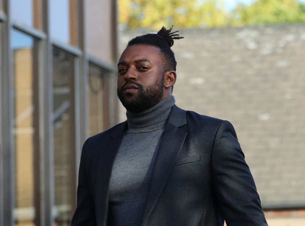Former JLS star Oritse Williams, 31, arrives at Walsall Magistrates' Court where he has been charged over an allegation of rape