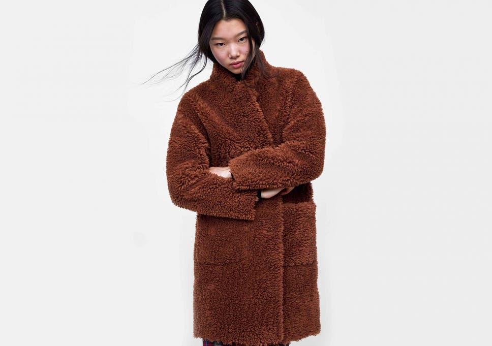 Zara Fur Coat Brown Tradingbasis