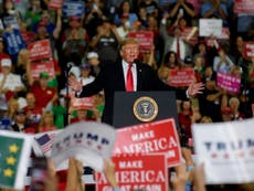 How is Donald Trump approaching the midterm elections?