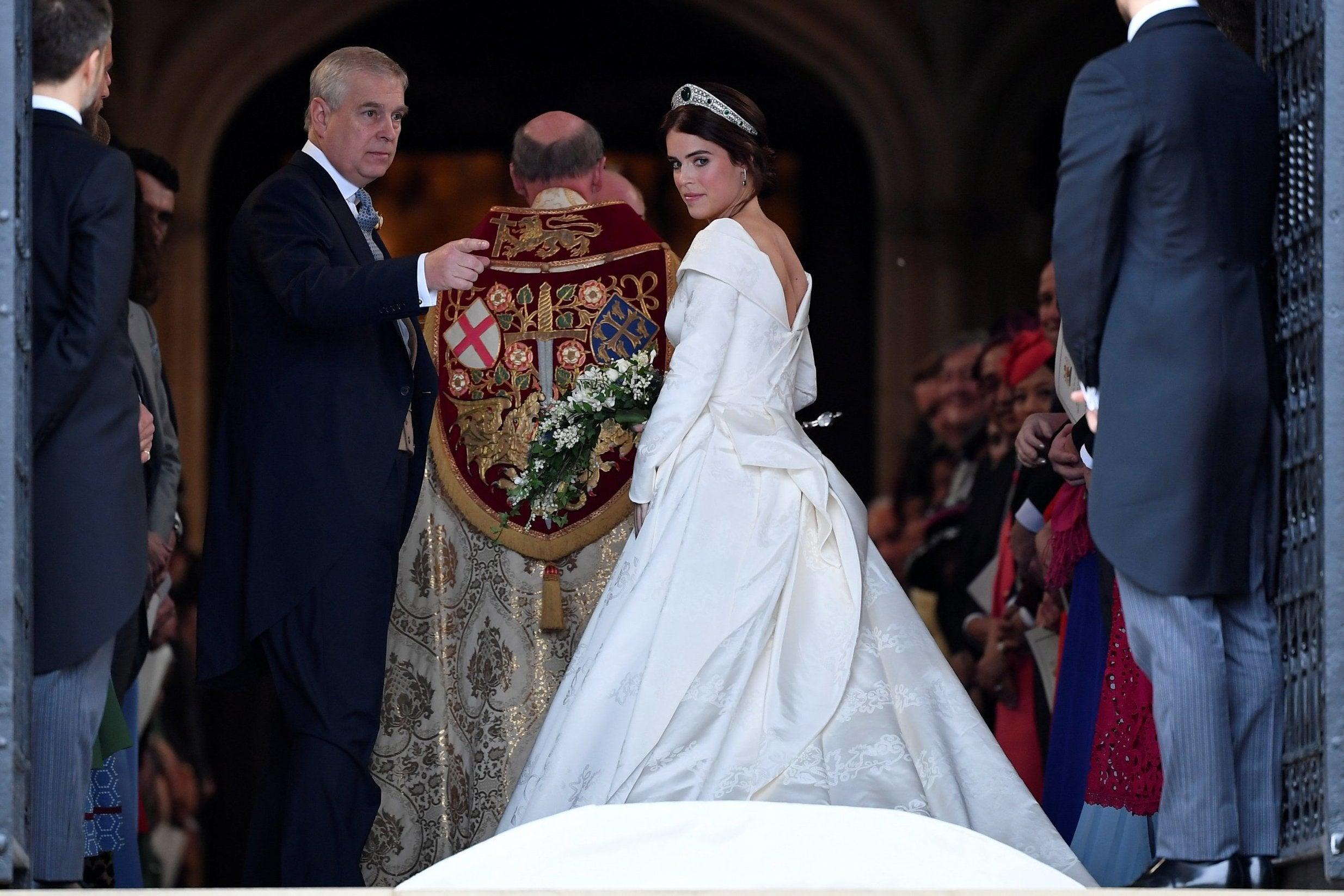 Royal Wedding: Princess Eugenie Wears Peter Pilotto And
