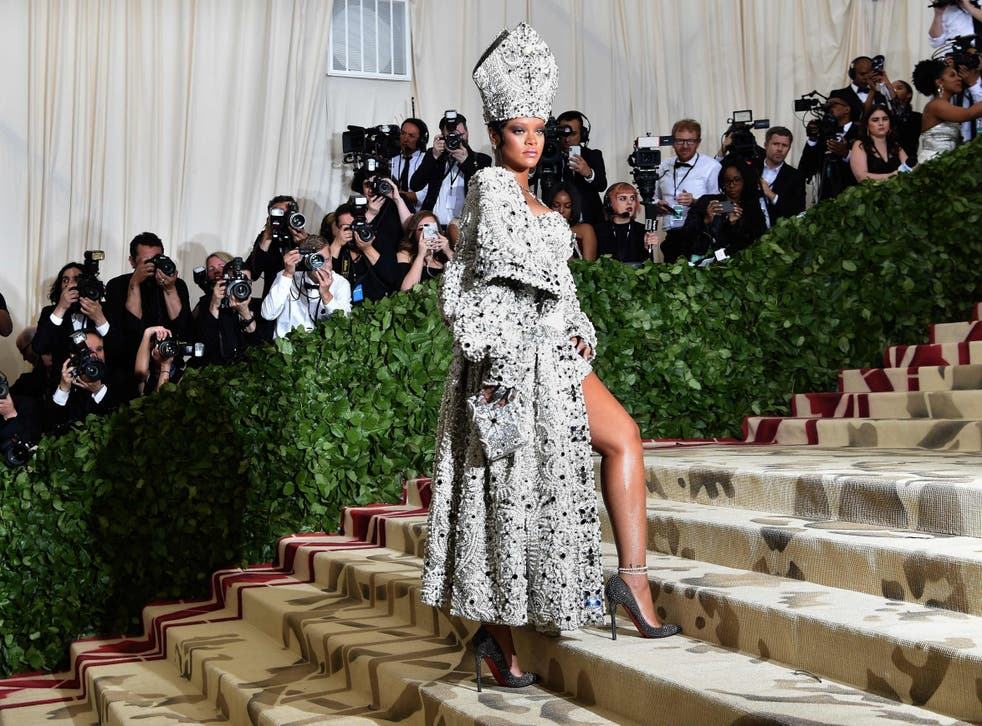 Rihanna turned heads as a high fashion pope at this year's fashion extravaganza