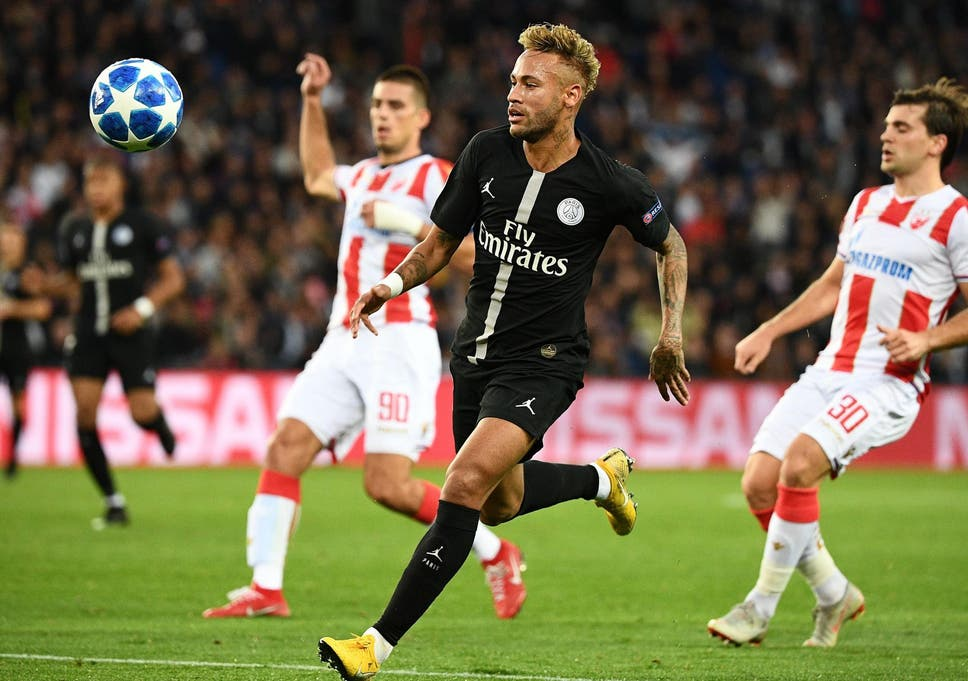 Psg Thumped Their Serbian Opponents   In The Champions League