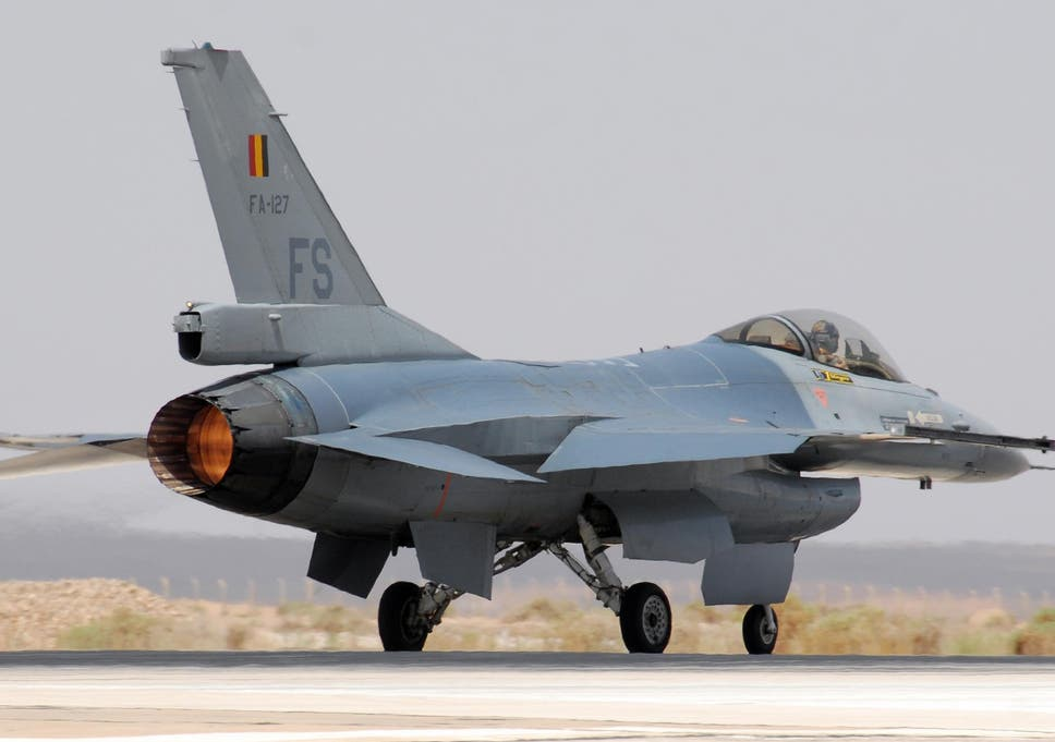 Image result for In Belgium, the technician fired an f 16 plane and destroyed the second F 16 plane