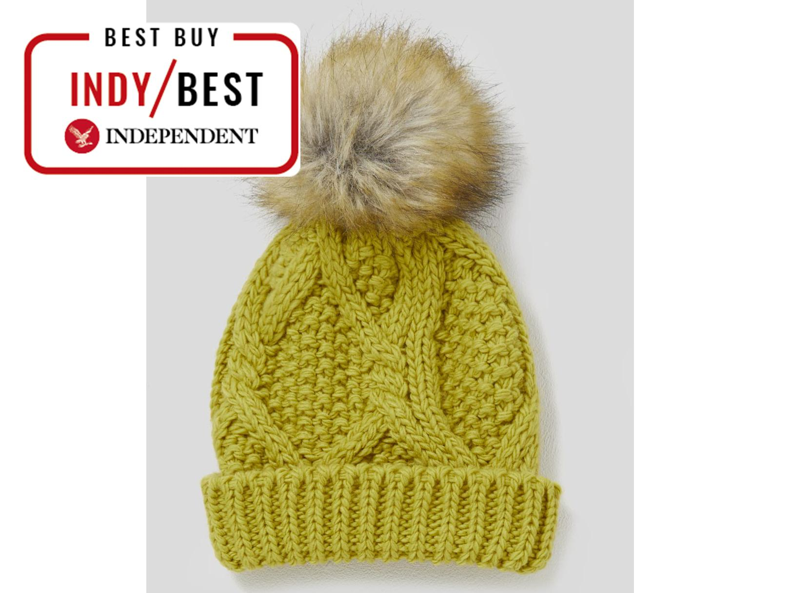 81c7e795a15 Cable Knit Faux Fur Bobble Hat  £6