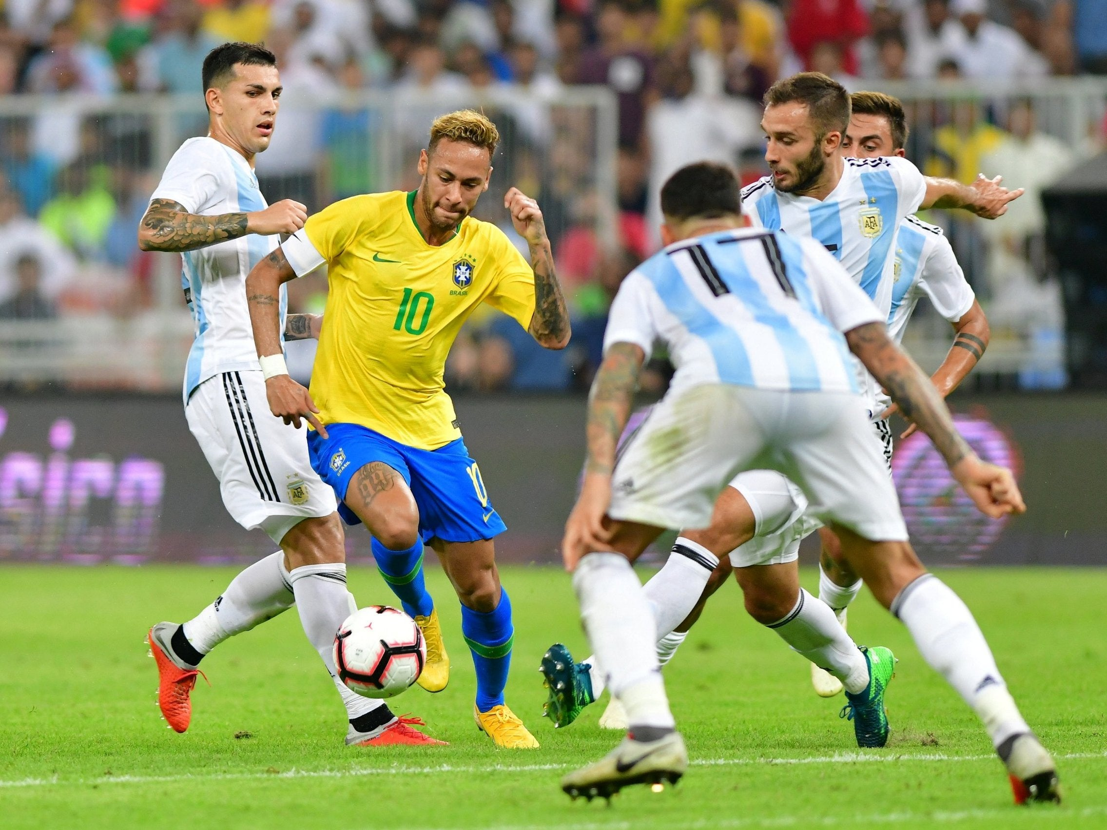 brazil argentina football sport american independent match header against