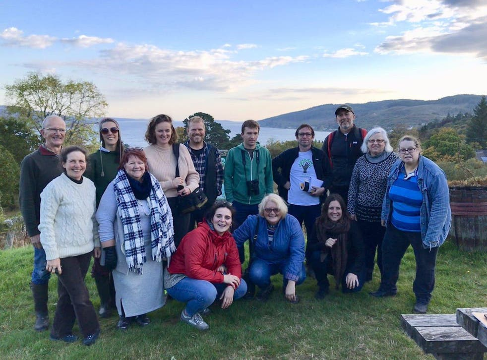 Project Skyline, which is exploring land ownership in the South Wales Valleys, visited community forests in Scotland in October