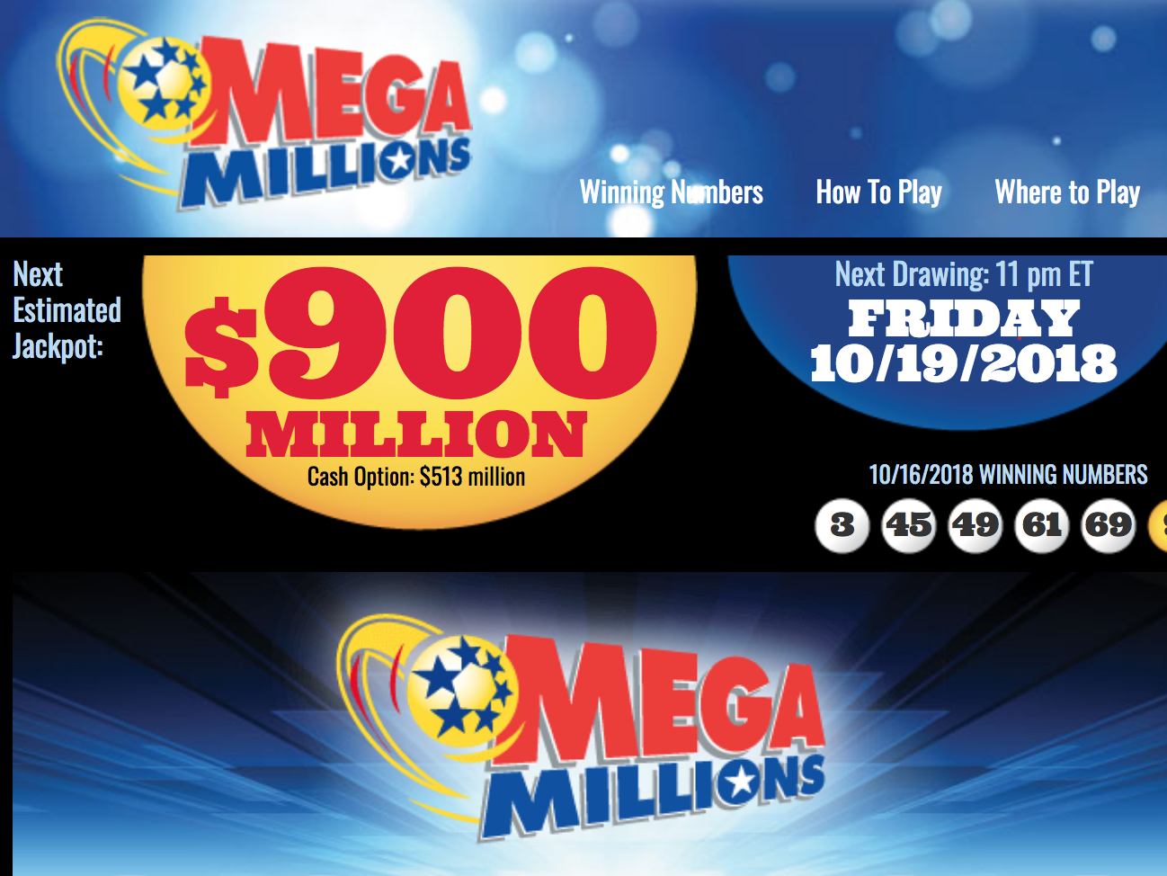 Mega Millions Lottery Tops $900m, What Are The Most Common