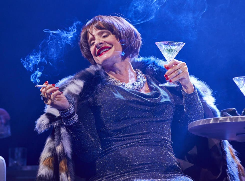 LuPone as Joanne: the moneyed lush who can't credit that her husband genuinely loves her