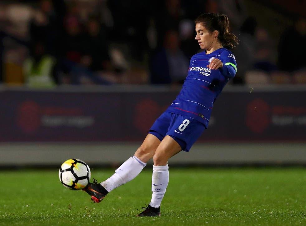 Karen Carney in action for Chelsea on Wednesday night