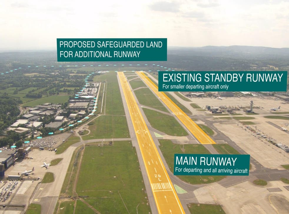 Sky ways: the standby runway (right) would be used only for departures