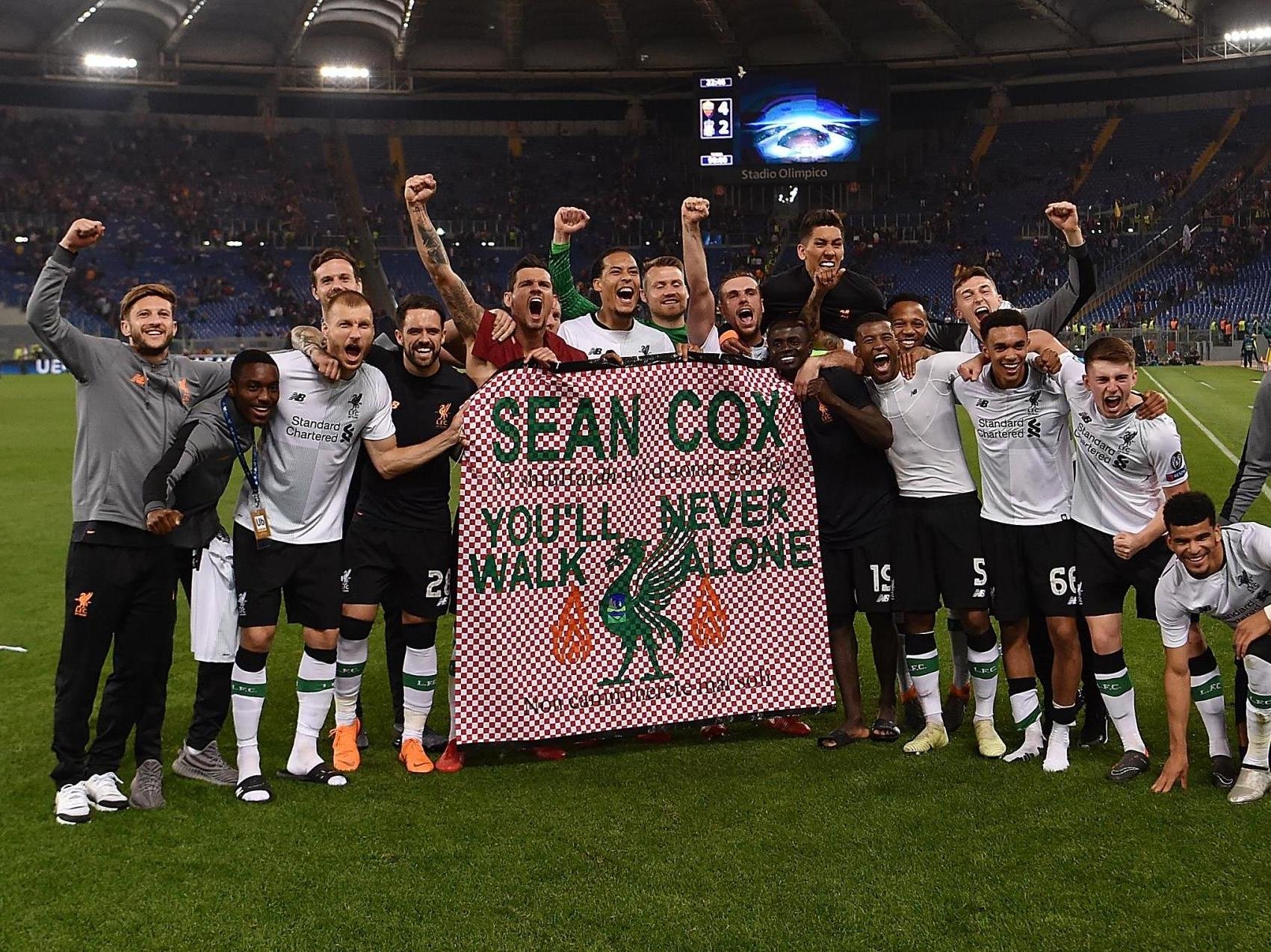 Roma make donation to family of injured Liverpool fan Sean Cox