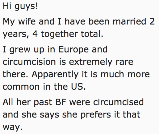 This man shared a story of being bullied into circumcision