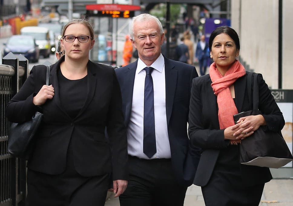 Anna Crowther, Martyn Day and Sapna Malik, from law firm Leigh Day