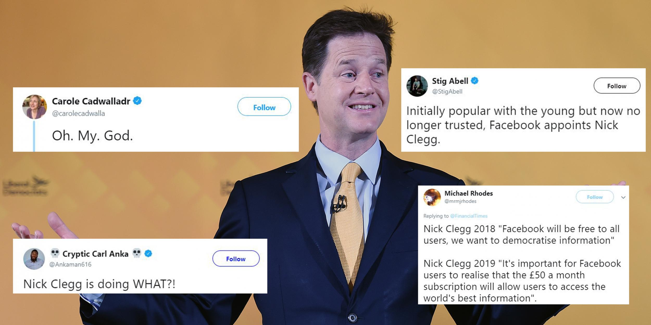 Image result for nick clegg facebook clear background