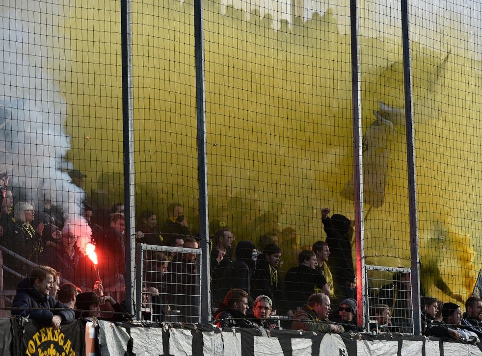 The pyrotechnics are very much a part of the Tvillinderbyt