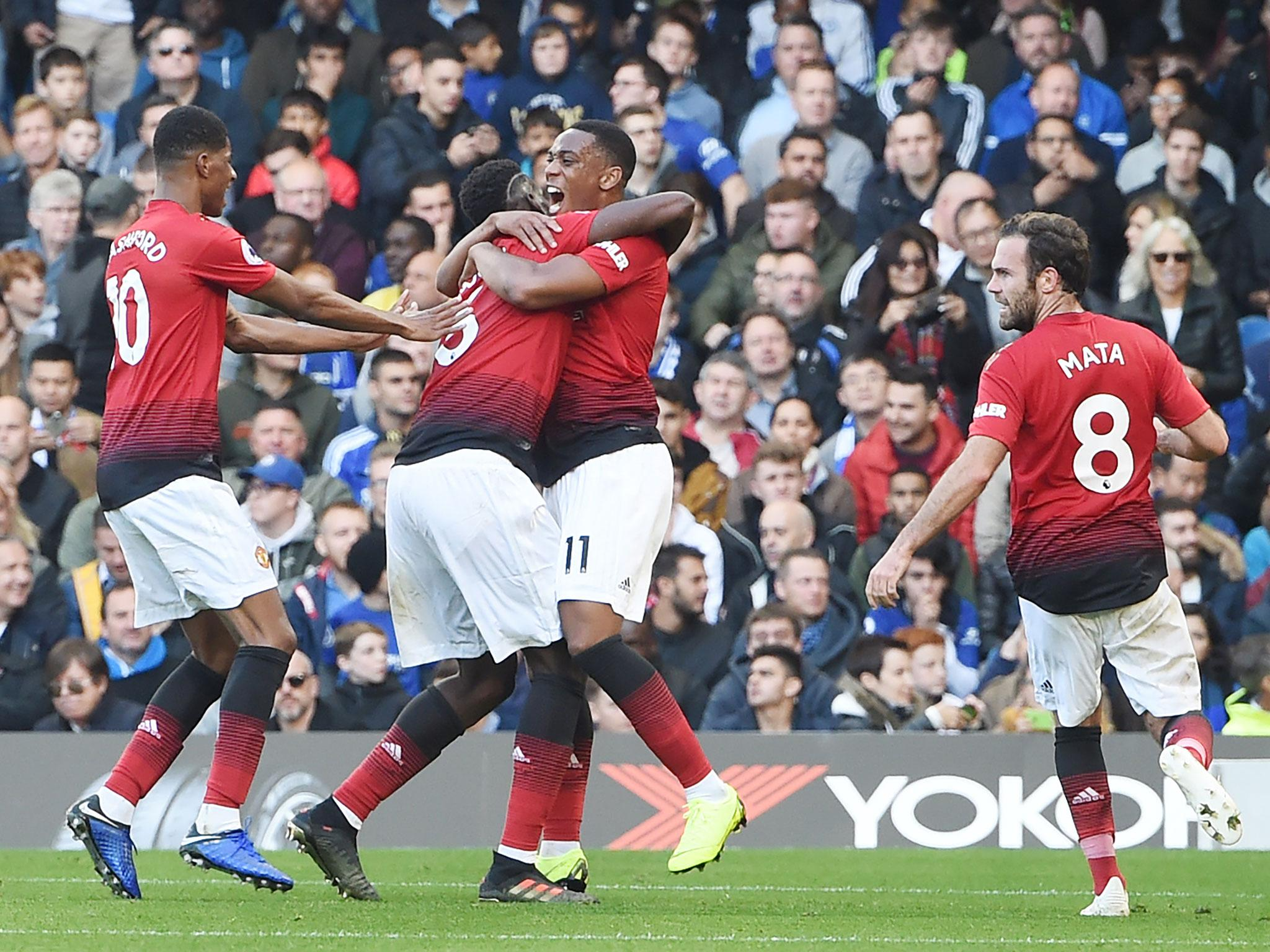 Mourinho's Manchester United miss out on famous win at Chelsea but can be enthused by second half surge