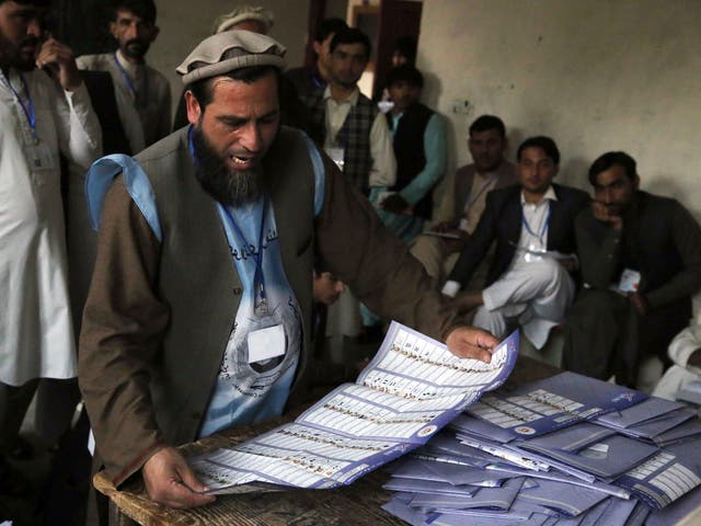 The elections have been plagued with threats of violence by Taliban militants warning people not to take part in the 'foreign-imposed' process