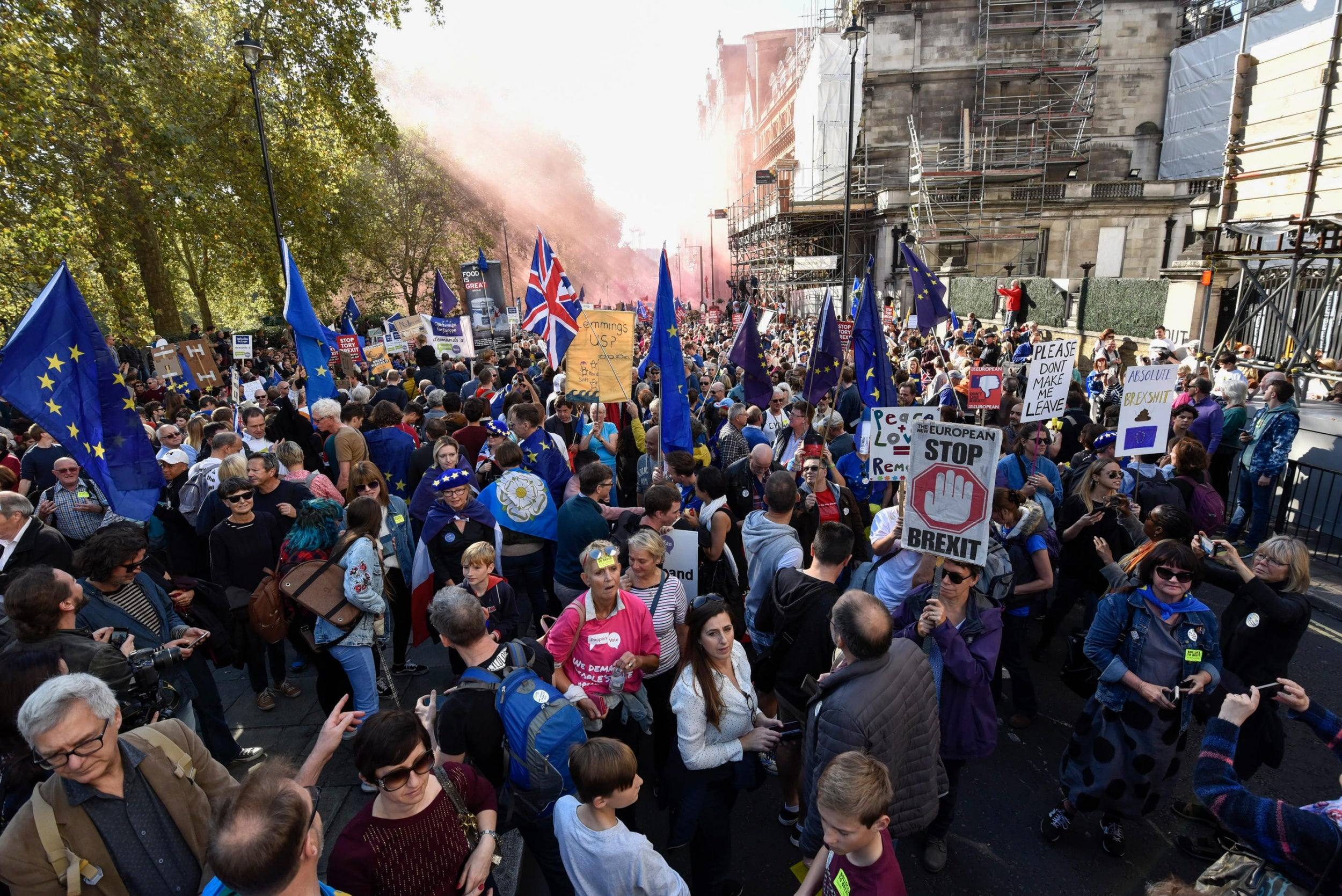 'A historic moment': 670,000 march to demand Final Say on Brexit at second biggest demo in a century