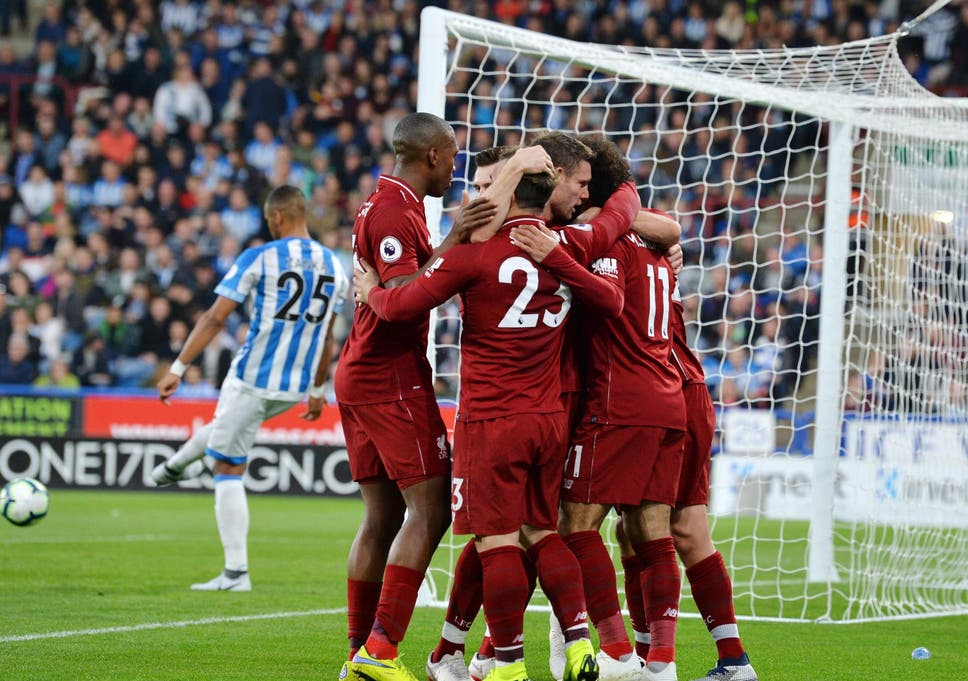 e402912dd Huddersfield 0-1 Liverpool  Salah strike seals victory for Reds over  valiant Huddersfield