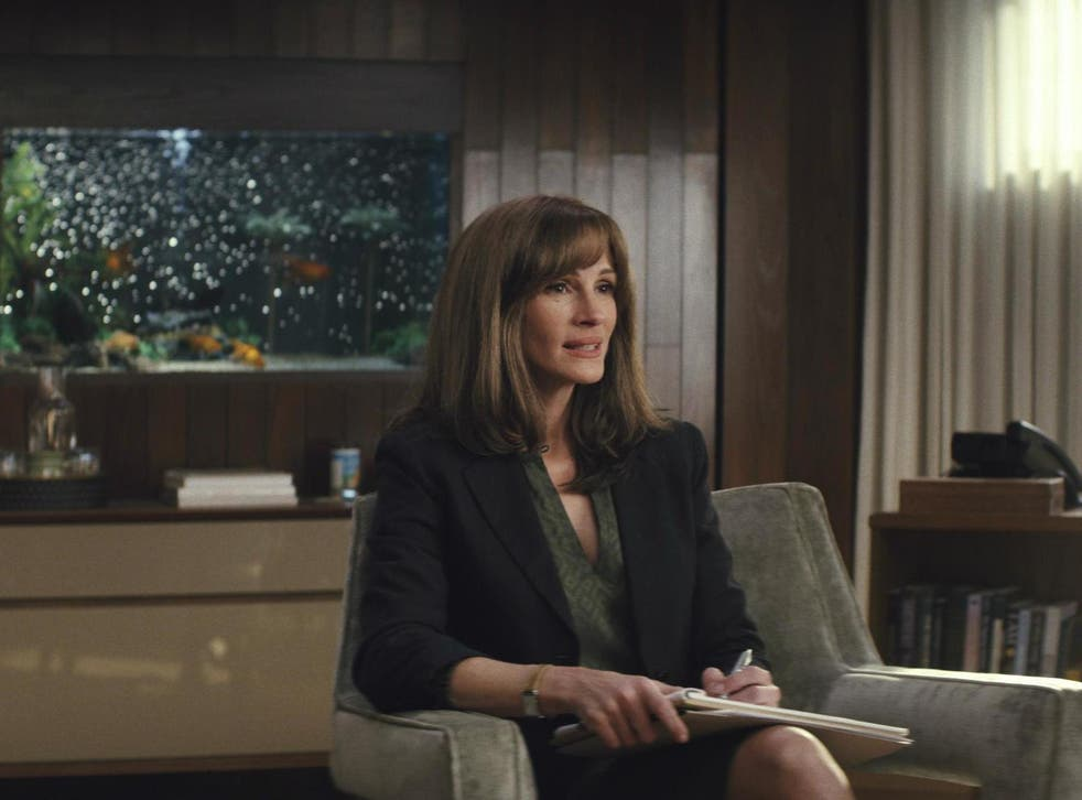 In 'Homecoming', Julia Roberts plays Heidi, a counsellor helping soldiers rehabilitate back into society