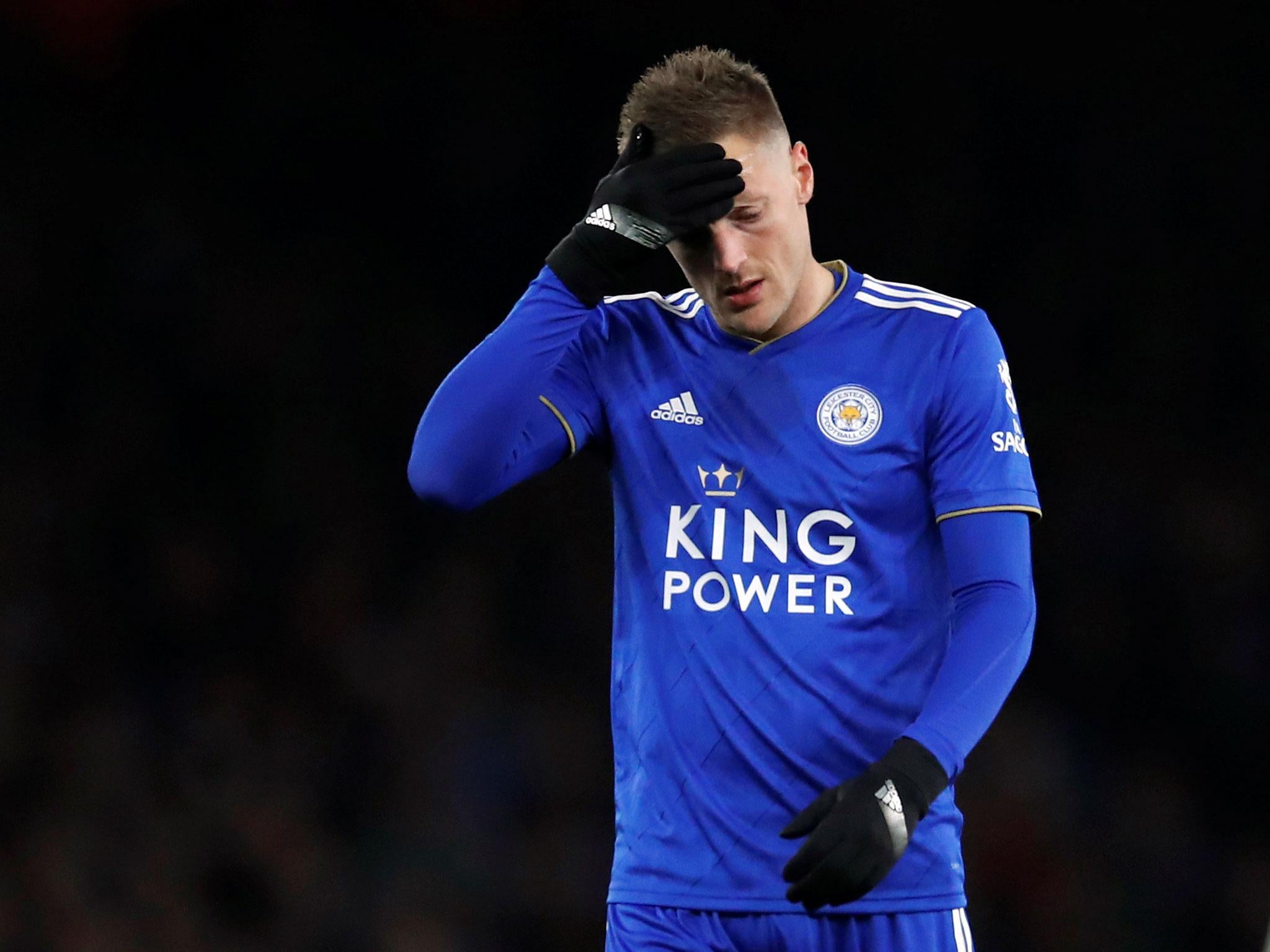 Jamie Vardy ran off the pitch against Arsenal because he could not digest penalty decision, jokes Claude Puel