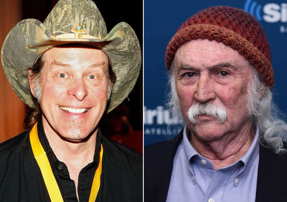 8499a4830c1 David Crosby calls Ted Nugent a  hack player  after singer s Rock and Roll  Hall of Fame rant.