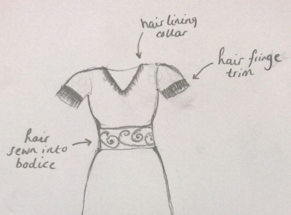 The woman, who wants to remain anonymous, has based her design on her deceased mother's 1950s wedding dress