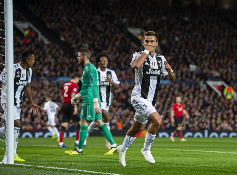 Paulo Dybala celebrates putting Juventus in front