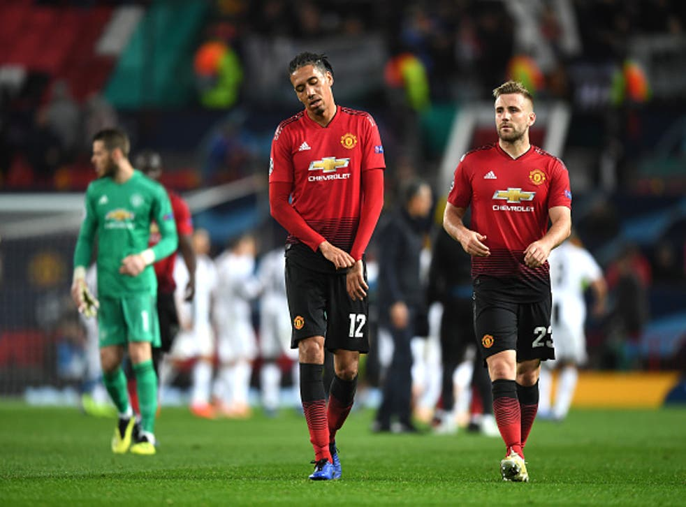 Chris Smalling cut a dejected figure at the full-time whistle