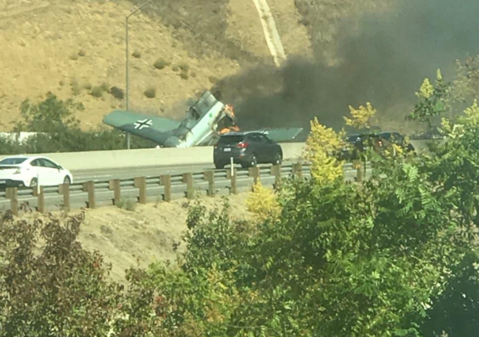 California plane crash: Light aircraft smashes into Los