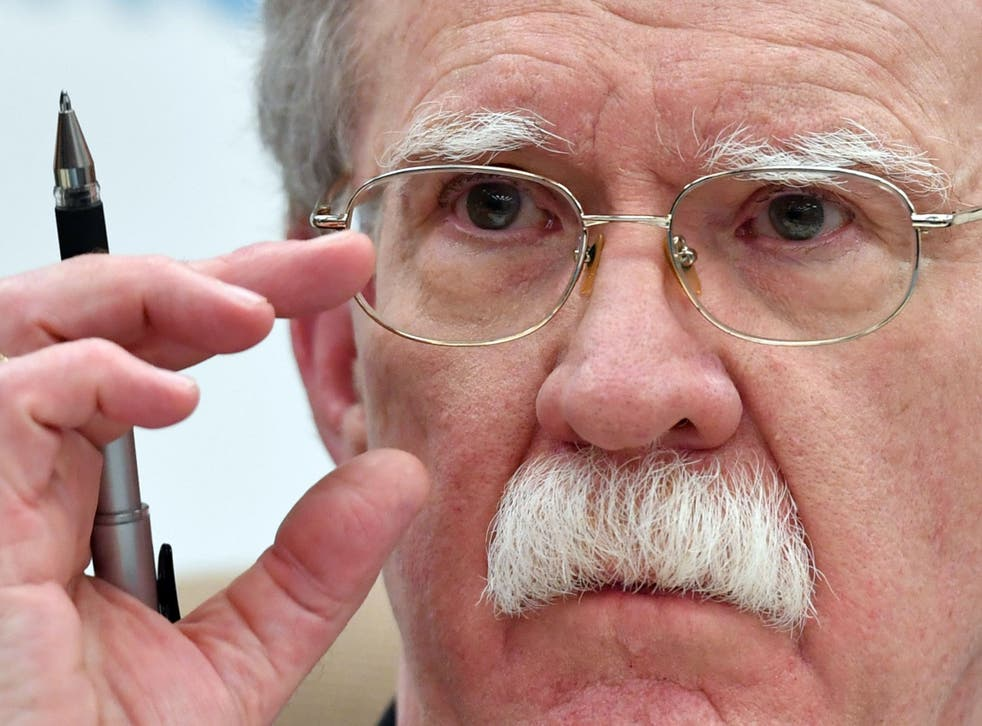 """US National Security Adviser John Bolton warned officials in Moscow he considered Russian interference """"intolerable."""""""