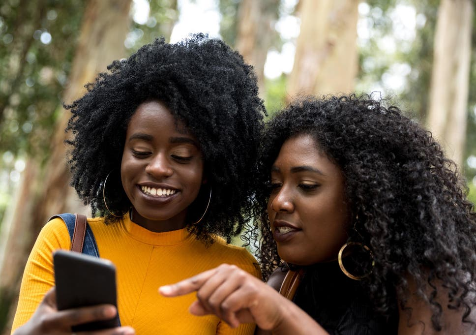 Image result for black people iphone