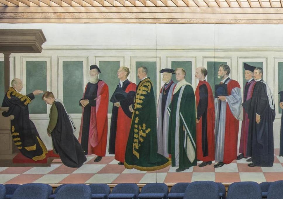 The Rothenstein Mural serves as a memorial to all members of British universities who served in the Great War.