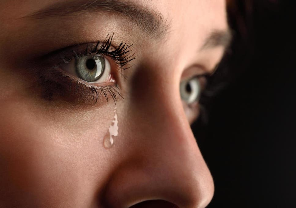 crying once a week leads to a stress free life says researcher