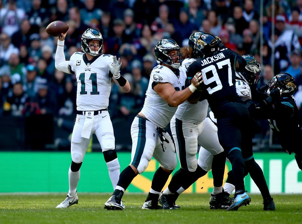 Carson Wentz led his team to victory at Wembley